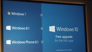 Windows 10 will be a free upgrade for existing WIndows 7 and 8 users.